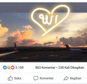 Postingan Facebook akun Pramugari Lion Air, Citra. (foto: facebook)
